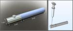 Solidworks render of BTK inhibitor implant design