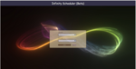 Picture of login page with rainbow infinity sign